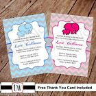 Chevron Elephant Baby Shower Invitation Printable Shower Invitations, DIY, Baby