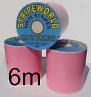 Self Adhesive Baby Pink Vinyl Stripes Many Widths for Car Caravan Boat 6mtrs
