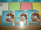 Shrinkles Shrink Plastic Various Colours Blue Pink Green White 131mm x 101mm