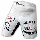 Cage Fight Grappling MMA Shorts Boxing Shorts Fight Shorts Black-White S to XXL