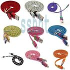 Braided Fabric Data&Sync Charger Cable Cord For iPhone 6 Plus 5 5S 3ft/6ft/10ft