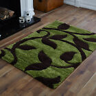 LARGE SMALL MEDIUM MODERN GREEN BROWN CARVED BEST QUALITY DESIGN SHAGGY RUGS