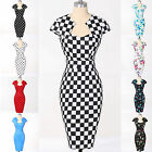 SUMMER SALE~Womens Ladies Evening Party Bodycon Cocktail Vintage Midi PROM Dress