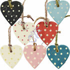 New Choice Of Wooden Polka Dot Hanging Hearts Gift Heart Tags Home Decoration