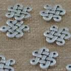 Jewelry Findings Tibetan Silver 15mm Hole 1mm Chinese knot Pendant Beads YJ-632