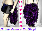 Halloween Tutu Burlesque Feather Bustle Skirt Moulin Rouge Hen 6-18 All Colours