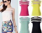 Fashion Women Summer Sexy Candy Color Sleeveless Striped Tops Blouses Vest,Hot