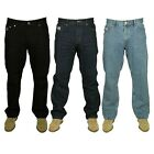 MENS FORGE JEANS CASUAL WORK WEAR IN BLACK & STONEWASH COLOUR 30 TO 60 RRP£19.99