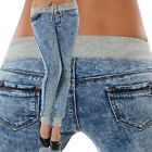 Damen Jeans Hose Skinny Slim Fit Hüftjeans Hüfthose Röhre Denim Low Rise Stretch