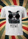 Check Meowt Sun Glasses Cat Kitten Funny T-shirt Vest Top Men Women Unisex 1914