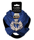 Womens Ladies Warm Fashion Neck Scarf with Thistle Metal Pendant