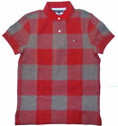 Tommy Hilfiger Mens Polo Shirt Red Blue Custom Fit Size XSmall NWT