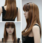 10 color Stylish Medium red brown black gold mixed Straight women's wig A1012