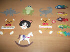 Mulberry Paper Animal Die Cuts Frogs Cats Elephant Dinosaur Various Designs