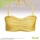 URA MERMAID Bra Top in Gold Bubbles ALL SIZES Swim Suit Top for Mermaid Tail