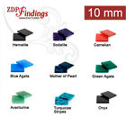 6pcs x Square 10x10mm Flat Gemstones For Your Choice (10SQFL)