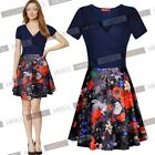 Women's A-line Short Flared Skirts Cocktail Party Skater Prom Clubwear Dresses
