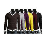 STO New Men's Knit Pullover Fashion Long Sleeve Sweater Boys Casual Jumper Tops