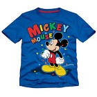 "Disney Boys Blue Confetti ""Mickey House"" Short Sleeve T Shirt- Toddler"