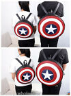 Unisex Avengers Captain America Shield Student Backpack Book School Bag Round