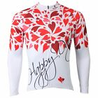 Happy love flowers sport Cycling Clothing Long Sleeve Bike Bicycle Jersey Top