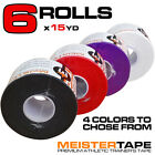 "6 ROLLS x 15YD PREMIUM ATHLETIC TRAINER'S TAPE - 1.5"" Meister Sports Coach Ankle"