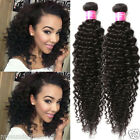 "3Bundles Jerry Curly Black Human Hair Extensions Hot Hair Weave 10""-30"""