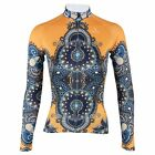 2015 Yellow robe Women's Cycling Clothing Long Sleeve Bike Bicycle Jersey Top