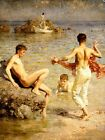 Gleaming Waters by Henry Scott Tuke (Classic Cornwall England Art Print)