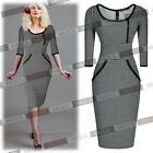 Womens Elegant Summer Business Wear to Work Career Casual Party Tea Dresses