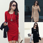 3Colors Fashion Women Bodycon Long Sleeve Evening Sexy Party Cocktail Mini Dress