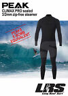 NEW Peak CLIMAX PRO Zip free mens 3/2mm Sealed Long sleeve steamer wetsuit