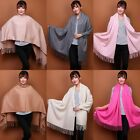 long Women beautiful multi colour 100% Wool Pashmina scarvessoft wrap shawl