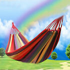 Portable Cotton Rope Outdoor Swing Camping Fabric Hanging Hammock Canvas Bed