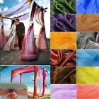 10x1.35M Top Table Swags Sheer Soft Organza Fabric DIY Wedding Chair Bows Cover