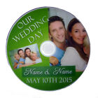Personalised Photos & Names Special DVD or CD Our Wedding Day with Sleeve