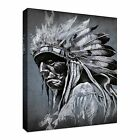 Tattoo art portrait of american indian Canvas Art Cheap Wall Print Home Interior