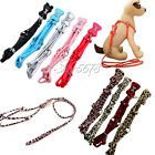 Pet Dog Puppy PU Leather Leash Lead Rope Harness Set Rhinestone Bone Safety