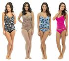 Ladies Control Tankini Swimsuit Costume Set V Neck Tummy Slimming Body Shaper