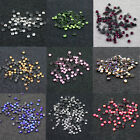 144 x HOT FIX  2.5mm FLATBACK ROUND IRON ON *10 COLOURS RHINESTONE DIAMANTE SS10