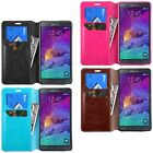 Clearance Sale! Samsung Galaxy Note 4 Note 3 Note 2 Wallet Case Phone Flip Cover
