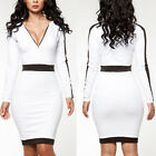 Women Bodycon Bandage Evening Sexy Dress Clubwear V-neck Cocktail Pencil Party