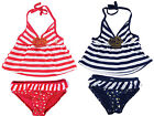 Rugged Bear Infant Girls Go Sailing 2Pc Tankini Swimsuit with Bow