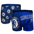 Chelsea FC Official Football Gift 2 PAIR Pk Mens Crest Boxer Shorts (RRP £19.99)