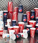 Strong Paper Soft Drinks Cups Disposable Coke Coca Cola Star Design Supplies £10.25  on eBay
