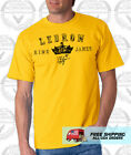 King Lebron James T Shirt 23 Signature Cleveland Cavaliers GOLD Shirt - SM-5XL on eBay