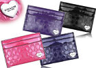 NWT Coach Perforated Gloss Heart Charm ID Credit Card Case Holder Business 62405