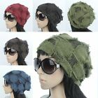 H1009 New Women Beanie One size Slouch Spring Summer Cap  Korea Hat Green Brown