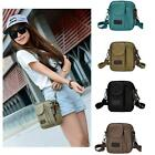 Men Women Canvas Shoulder Messenger Bag Casual Outdoor Unisex Vintage Travel