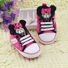 Minnie Mouse Crib Shoes Sneakers 0-6 6-12 12-18 Months Baby Girl Princess Mickey